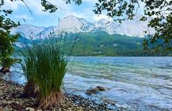 высокогорный взгляд лета озера Стоковая Фотография
