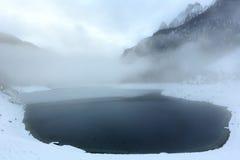 Высокогорный взгляд озера зимы Стоковое Изображение