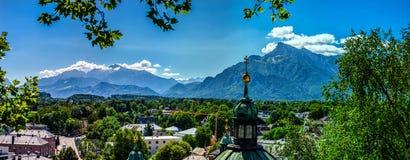 Высокогорный взгляд ландшафта в Зальцбурге, Австрии Стоковая Фотография RF