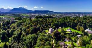 Высокогорный взгляд ландшафта в Зальцбурге, Австрии Стоковые Фотографии RF