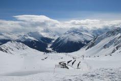 Высокогорный взгляд зимы Стоковые Фотографии RF