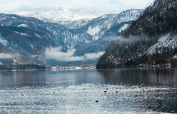 Высокогорный взгляд озера зимы Стоковая Фотография