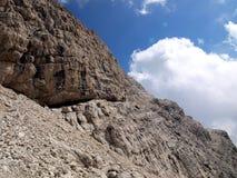 Высокогорный взгляд от зоны Camosci dei колокольни в Brenta Стоковые Фотографии RF