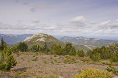 Высокогорный взгляд от на горы павильона Стоковое Фото