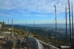 Высокогорный взгляд от Sumava, dreiländereck/trojmezi Стоковое Изображение