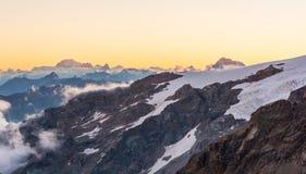 высокогорный заход солнца Стоковое фото RF