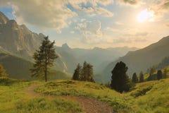 Высокогорный заход солнца Falre Стоковые Фото