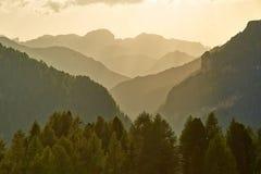 Высокогорный заход солнца Falre Стоковое Изображение