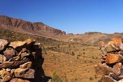 Высокогорный ландшафт в горах атласа Стоковые Фото