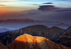 Высокогорный ландшафт в национальном парке Retezat Стоковая Фотография
