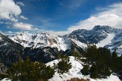 высокогорный ландшафт Лихтенштейн Стоковая Фотография