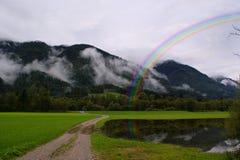 высокогорный ландшафт Швейцария Стоковые Изображения RF