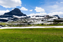 Высокогорный пейзаж в национальном парке ледника, США стоковое фото