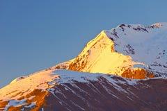 высокогорный пиковый заход солнца Стоковое Изображение RF