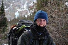 высокогорный hiker Монтана Стоковые Изображения RF