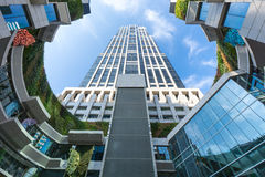 Высокое здание подъема в Шанхае, Китае Стоковые Изображения RF