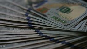 Высокое кино определения дует вне стог Соединенных Штатов Америки USD 100 100 доллары примечаний Федеральной Резервной системы видеоматериал