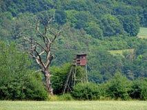 Высокое место в холмах, geismar, Hesse стоковая фотография