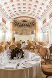 Высокое место класса готовое для служения еды для события Стоковое Фото