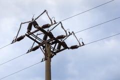 Высокое напряжение столбца Стоковые Фото