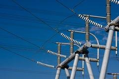 высокое напряжение тока изоляторов Стоковые Фото