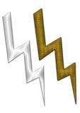 высокое напряжение тока икон Стоковое Изображение RF