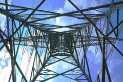 высокое напряжение тока опоры Стоковая Фотография RF