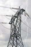 высокое напряжение тока опоры Стоковое Фото