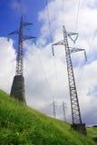 высокое напряжение тока опор Стоковые Фотографии RF