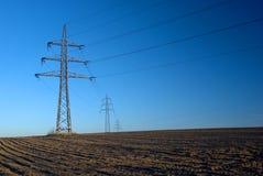 высокое напряжение тока опор Стоковое Изображение RF