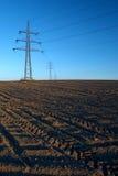 высокое напряжение тока опор Стоковая Фотография RF