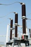 высокое напряжение тока подстанции части Стоковое Изображение