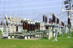 высокое напряжение тока подстанции ii Стоковые Изображения