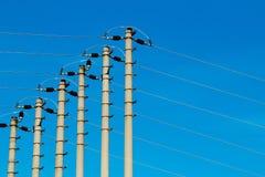 высокое напряжение тока полюса Стоковые Фото