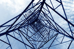 высокое напряжение тока полюса Стоковое фото RF