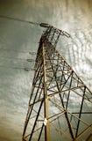 высокое напряжение тока полюса Стоковая Фотография