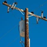 высокое напряжение тока полюса Стоковое Изображение RF