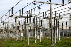 высокое напряжение тока силы линейного хозяйства Стоковое фото RF