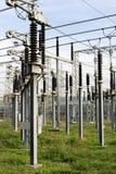 высокое напряжение тока силы линейного хозяйства Стоковая Фотография RF