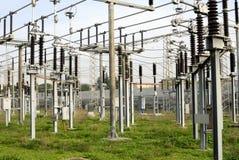 высокое напряжение тока силы линейного хозяйства Стоковые Фотографии RF