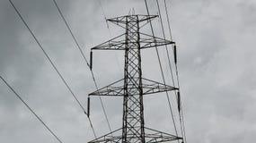 высокое напряжение тока силы полюса Стоковые Фото