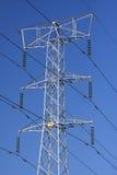 высокое напряжение тока стальной структуры Стоковые Изображения RF