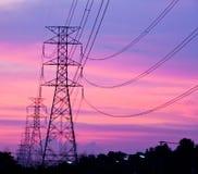 высокое напряжение тока столба Стоковые Изображения RF