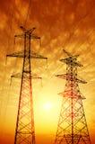 высокое напряжение тока столба стоковое фото rf