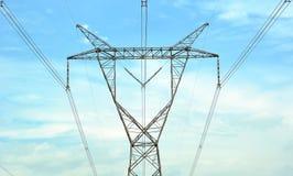 высокое напряжение тока столба Стоковое Изображение