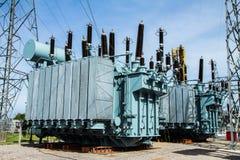 высокое напряжение тока трансформатора Стоковое Изображение