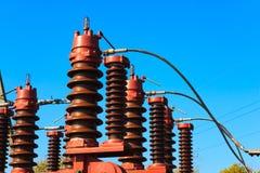 высокое напряжение цепи выключателя Стоковая Фотография RF