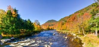 Высокое ущелье падений - река Ausable стоковые изображения rf
