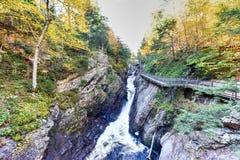 Высокое ущелье падений - река Ausable стоковые изображения