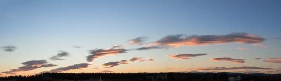 Высокое cloudscape определения на заходе солнца Стоковая Фотография RF